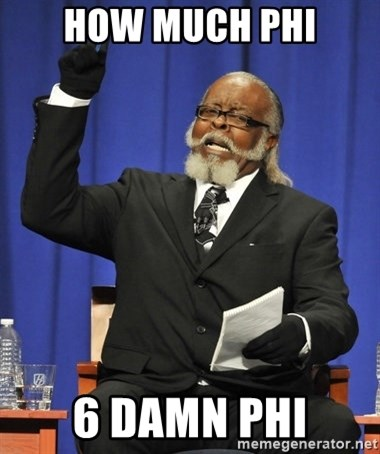 Rent Is Too Damn High - How much phi 6 damn phi