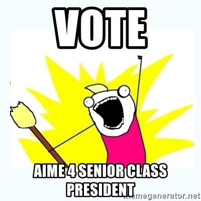 All the things - VOTE aIME 4 SENIOR CLASS PRESIDENT