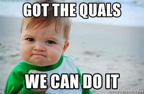 fist pump baby - Got The quals we can do it