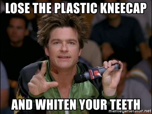 Bold Strategy Cotton - lose the plastic kneecap and whiten your teeth