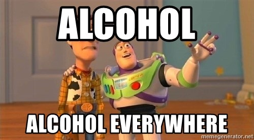 Consequences Toy Story - Alcohol Alcohol everywhere