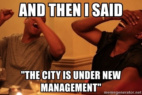 """Jay-Z & Kanye Laughing - And then I said """"The city is under new management"""""""