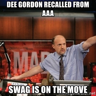 Jim Kramer Mad Money Karma - dee gordon recalled from aaa swag is on the move