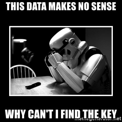 Sad Trooper - This data makes no sense Why can't I find the key