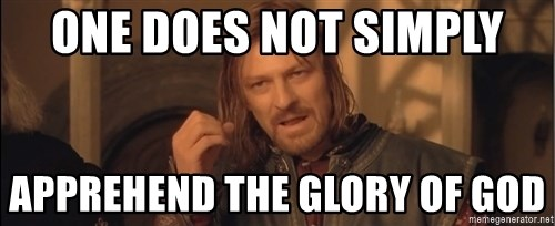 Aragorn - One does not simply apprehend the glory of god