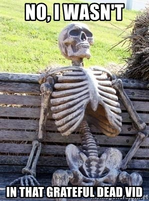 Waiting Skeleton - no, i wasn't in that grateful dead vid