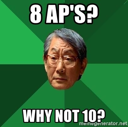 High Expectations Asian Father - 8 AP's? why not 10?