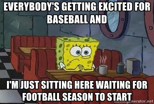 Coffee shop spongebob - Everybody's getting excited for baseball And i'm just sitting here Waiting for football season to start