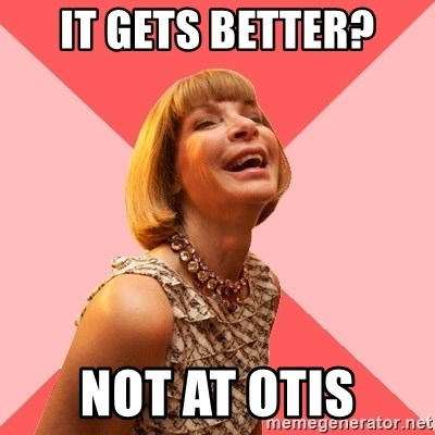 Amused Anna Wintour - It gets better? Not at otis