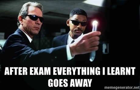 NEUTRALIZER MIB -  AFTER EXAM Everything i learnt goes away