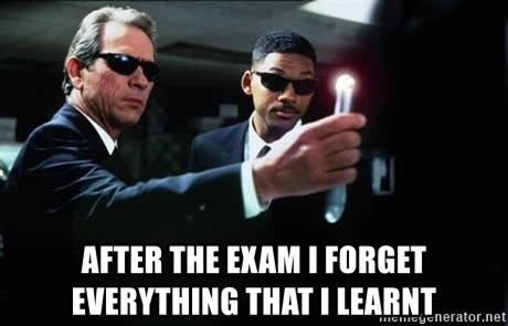 NEUTRALIZER MIB -  After the exam i forget everything that i learnt