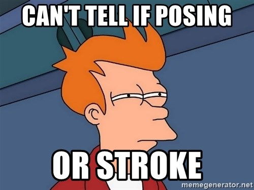 Futurama Fry - Can't tell if posing or stroke