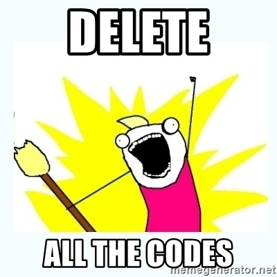 All the things - Delete All the codes