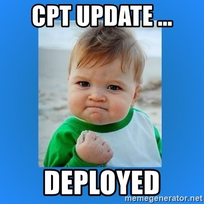 yes baby 2 - CPT update ... Deployed