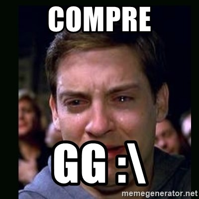 crying peter parker - COMPRE GG :\