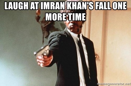 I double dare you - Laugh at imran khan's fall one more time