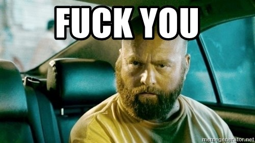 alan hangover 2 - fuck you