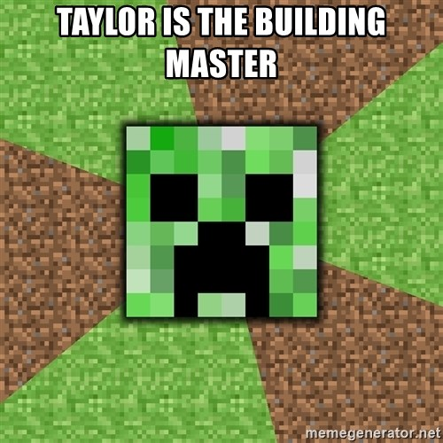 Minecraft Creeper - Taylor is the building master
