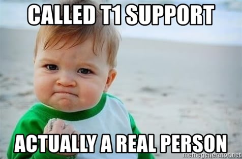 fist pump baby - Called T1 Support Actually A Real Person