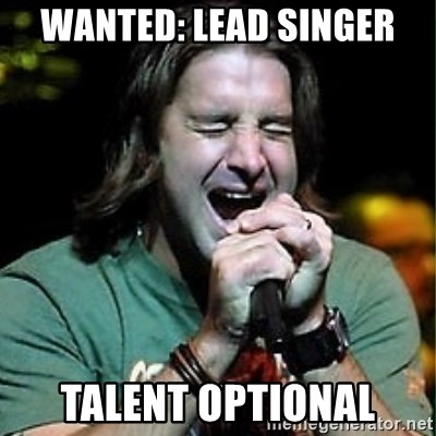 Scott Stapp - wanted: lead singer Talent optional