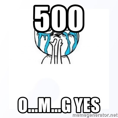 YES YOU CAN - 500 O...M...G YES