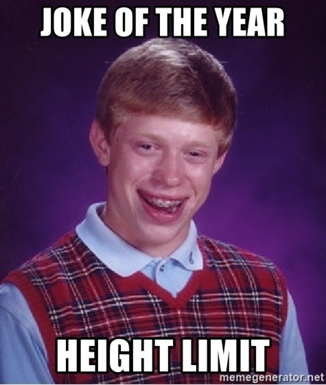 Bad Luck Brian - joke of the year height limit