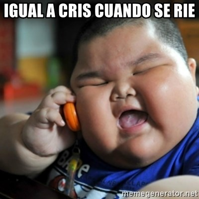 fat chinese kid - IGUAL A CRIS CUANDO SE RIE