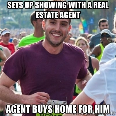 Incredibly photogenic guy - Sets up showing with a Real estate agent Agent buys home for him
