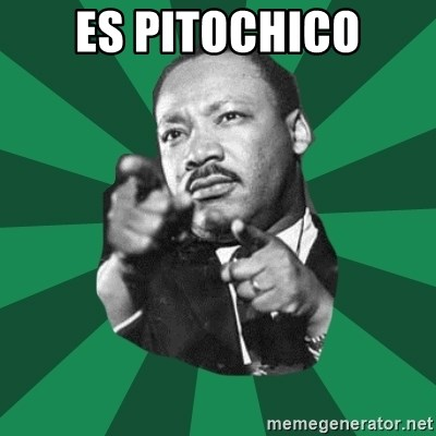 Martin Luther King jr.  - ES PITOCHICO