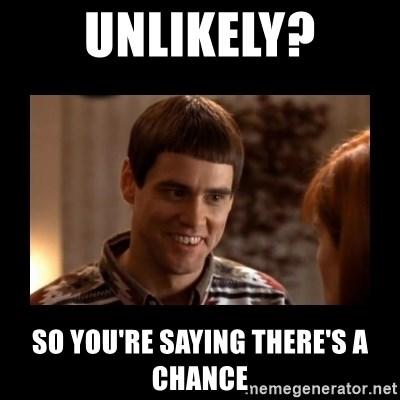 Lloyd-So you're saying there's a chance! - Unlikely? so you're saying there's a chance