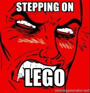Rage Face - STEPPING ON LEGO
