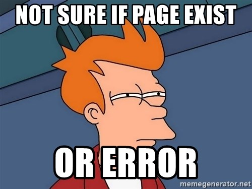 Futurama Fry - Not sure if page exist or error