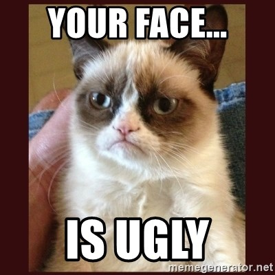 Tard the Grumpy Cat - Your face... is ugly