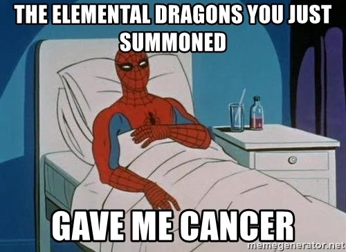 spiderman hospital - The Elemental Dragons you Just Summoned Gave me Cancer