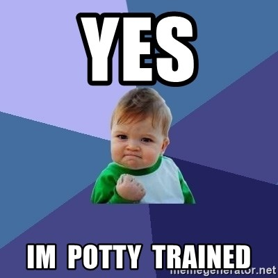 Success Kid - yes im  potty  trained
