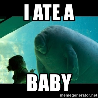 Overlord Manatee - I ATE A BABY