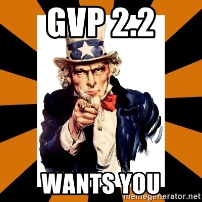 Uncle sam wants you! - GVP 2.2 Wants you