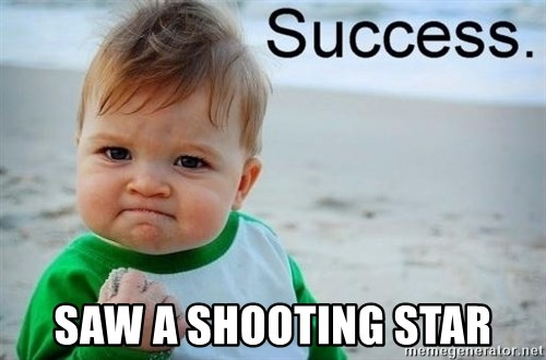success baby -  saw a shooting star