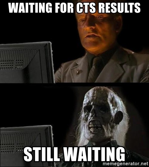 Waiting For - WAITING FOR CTS RESULTS STILL WAITING