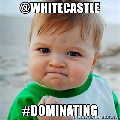 Victory Baby - @Whitecastle #dominating