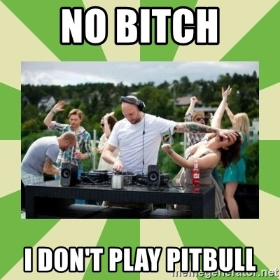 Angry DJ - NO BITCH I DON'T PLAY PITBULL