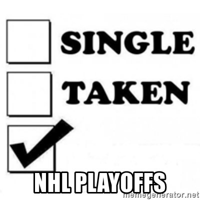 single taken checkbox -  nhl playoffs
