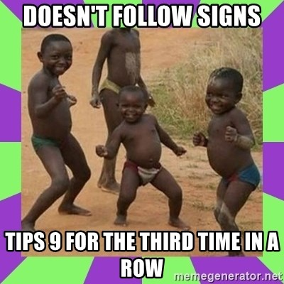 african kids dancing - DOESN'T FOLLOW SIGNS TIPS 9 FOR THE THIRD TIME IN A ROW