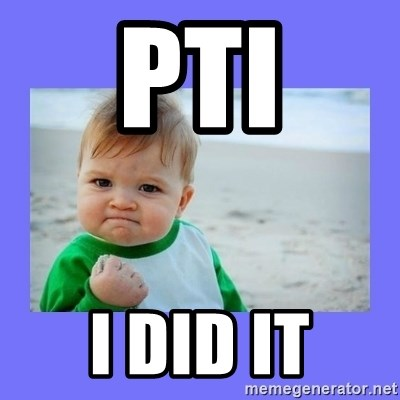 Baby fist - PTI I did it