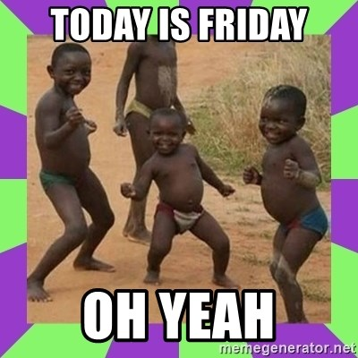 african kids dancing - TODAY IS FRIDAY OH YEAH
