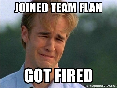 Crying Man - Joined Team flan got fired