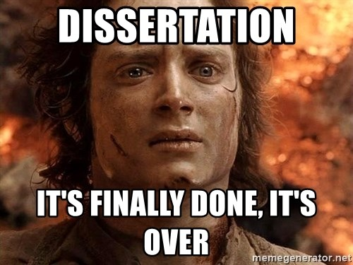 Frodo  - Dissertation  It's finally done, it's over