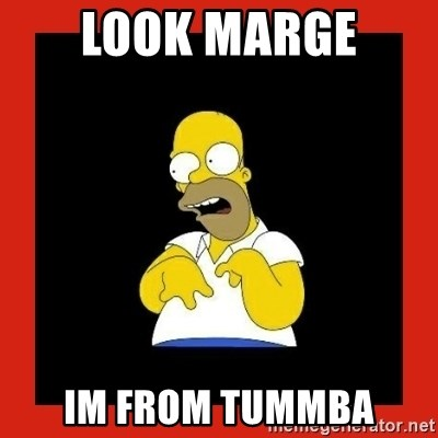 Homer retard - Look marge  im from tummba