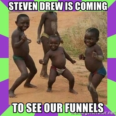 african kids dancing - steven drew is coming to see our funnels
