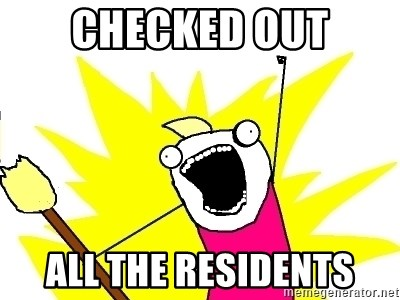 X ALL THE THINGS - checked out all the residents